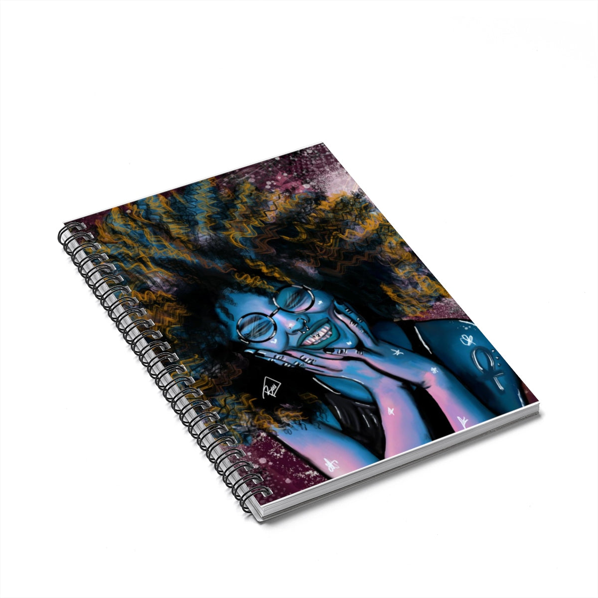 Vibrancy Blue Spiral Notebook - Ruled Line