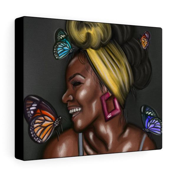 Butterfly Kisses Canvas Gallery Wraps
