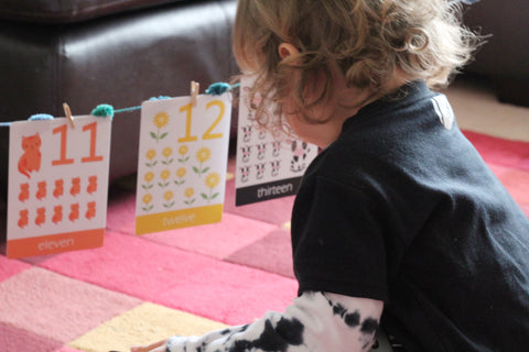 Lewis Using his Number flashcards from Little Boo Learning | Educational resources for toddlers