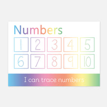 Help your child learn to recognise and write the numbers 1-10 with their very own wipe clean numbers learning mat.