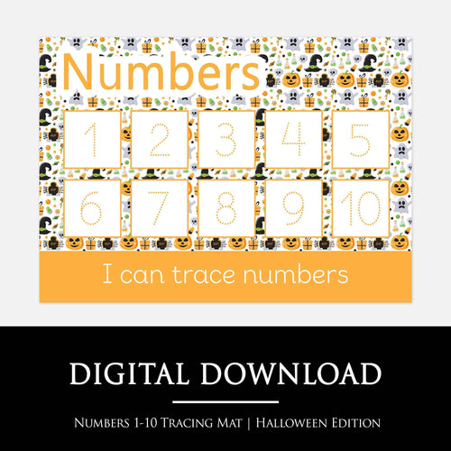 Halloween Numbers 1-10 Learning Mat | Digital Download