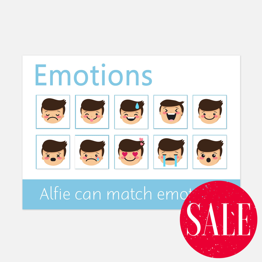 Emotions Learning Mat (Imperfect) - Learning resources for toddlers and pre-school children