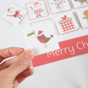 Personalised Christmas Learning Mat - Learning resources for toddlers and pre-school children