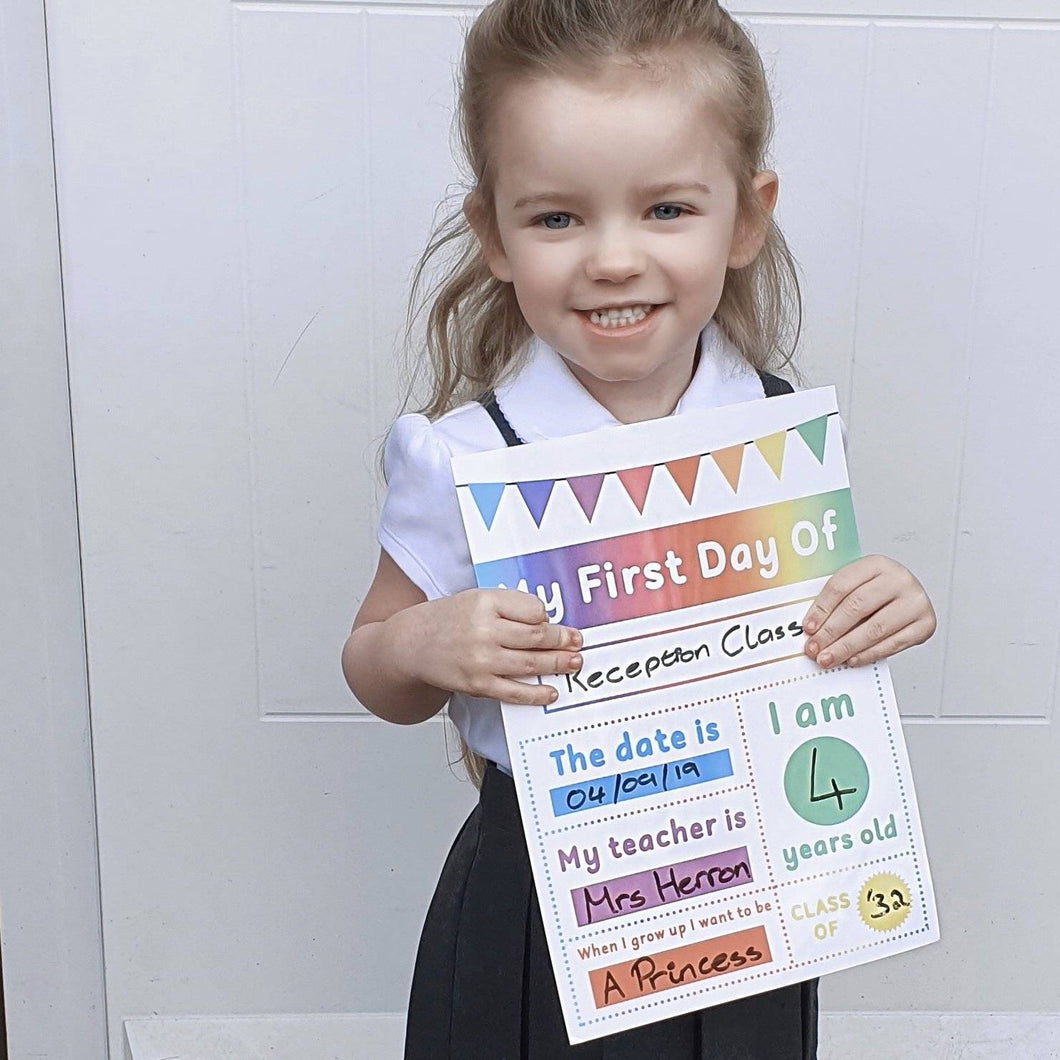 My First Day | Starting School Milestone Mat by Little Boo Learning