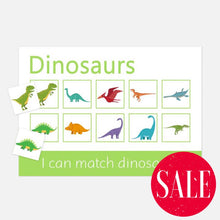 dino learning mat | flashcards and learning resources for toddlers by Little Boo Learning