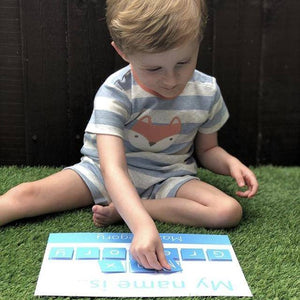 Personalised 'My Name is...' Spelling Mat - Learning resources for toddlers and pre-school children by Little Boo Learning