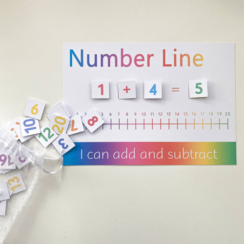 PERSONALISED Velcro Add & Subtract Number Line Mat <br /> <br /> More colours available
