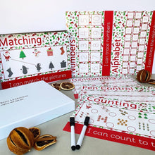 READY-TO-POST Wipe Clean Learning Mat Gift Box Set <br /> <br /> Chistmas Edition