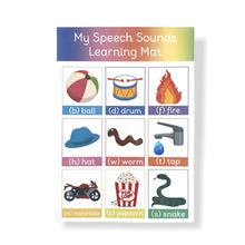 Speech Sounds Learning Mat for Pre-School Speech Therary and Speech Delay by Little Boo Learning