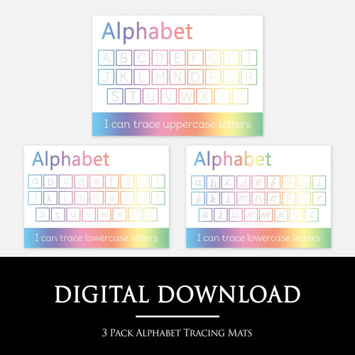 3 Pack Alphabet Handwriting Practice Mats | Digital Download by Little Boo Learning