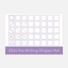 Pre-writing shapes learning mat | Suitable for Children aged 2-6
