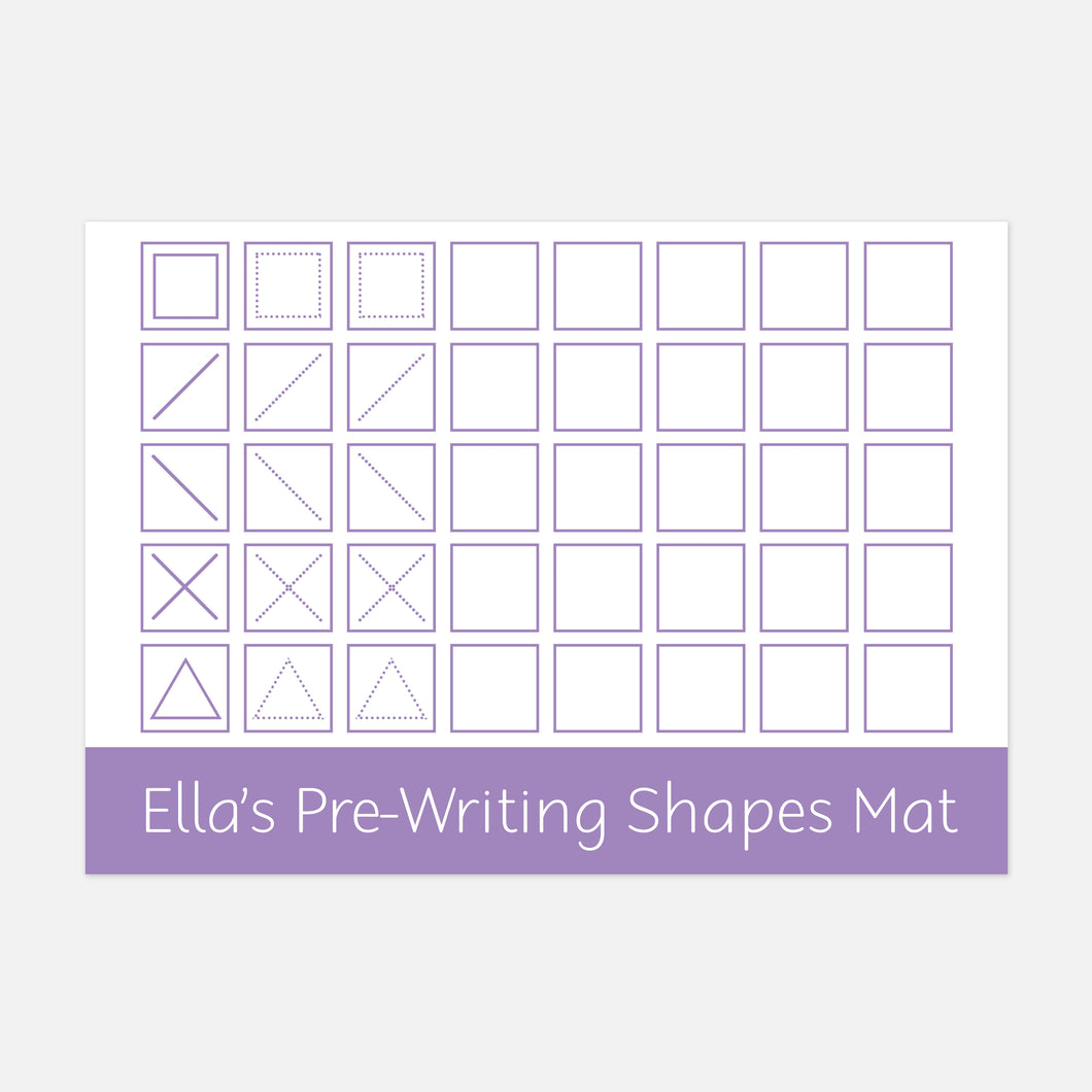 Pre-writing shapes learning mat | Suitable for Children aged 4-6