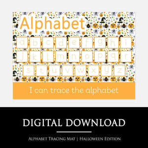 Halloween Alphabet Learning Mat | Digital Download