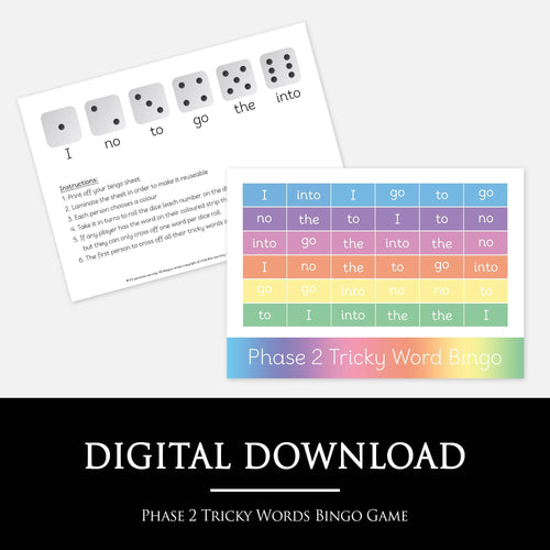 Phase 2 Tricky Words Bingo | Digital Download