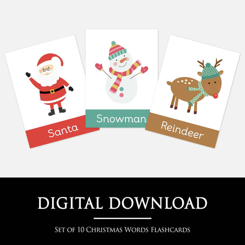 Christmas Words Flashcards | Printable Learning Resources for Pre-School & Homeschool