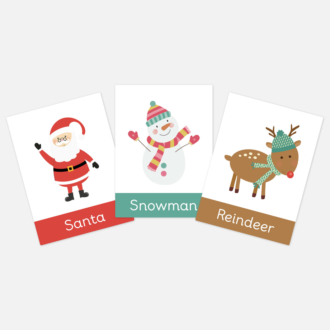 Christmas Flashcards by Little Boo Learning | Festive educational learning resources for toddlers and pre-school children at Christmas