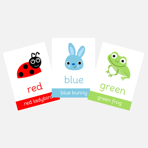 Colour Flashcards for Toddlers | Homeschool educational activities and learning resources for EYFS by Little Boo Learning