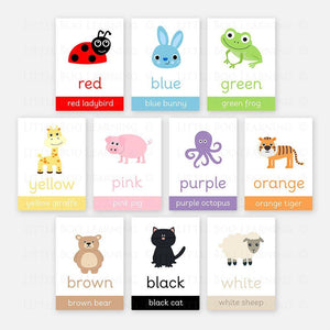 Colour Flashcards by Little Boo Learning | Printable resources for homeschooling