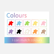 Personalised Colours Learning Mat <br /> (Stage 1 - Pictures) <br /> <br /> More colours available