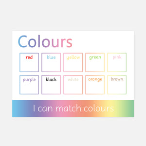 Colours Learning Mat (Version 3)