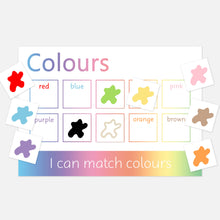 colours learning mat | eyfs toddler activities and games