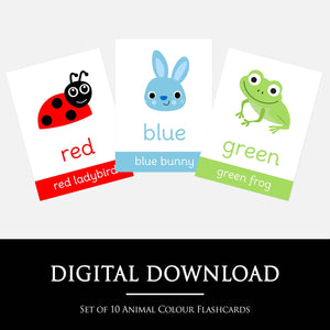 Animal Colour Flashcards | Digital Download