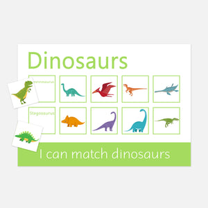Dinosaur Learning Mats | EYFS Learning Resources for toddlers and Pre-schoolers