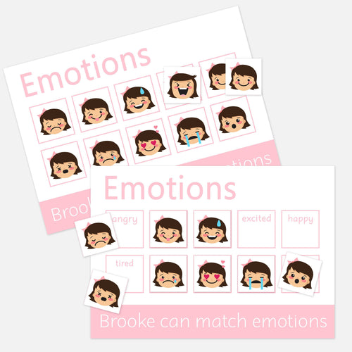 emotions learning mat 2 pack toddler preschool matching activities with velcro pictures