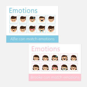 personalised emotions learning mat for toddlers. fun learning activities