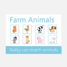 farm animal velcro learning mat for toddlers. fun learning activity