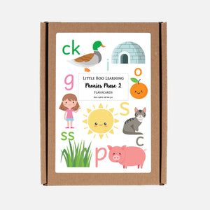 Phonics Phase 2 Flashcards by Little Boo Learning