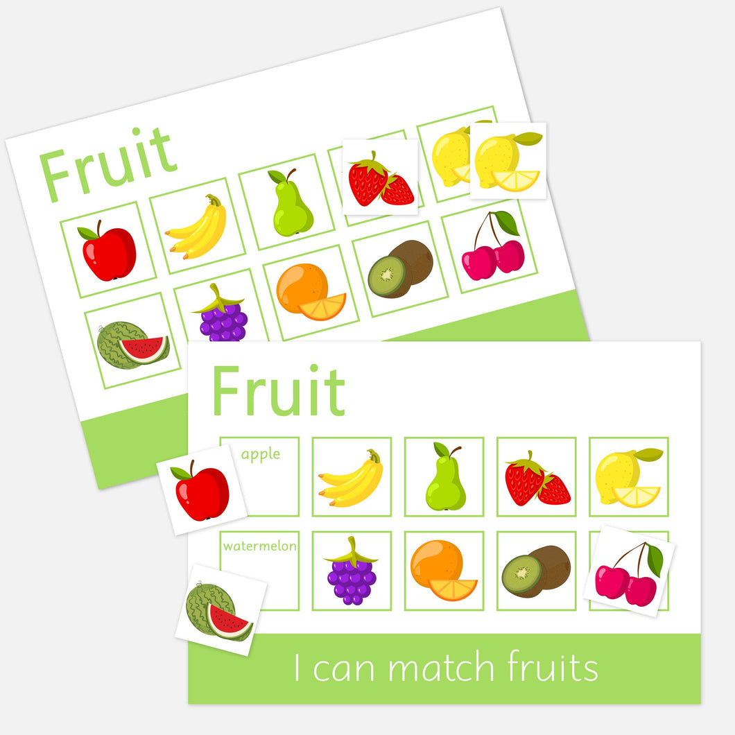 Personalised Fruit Learning Mats (2 Pack) <br /> <br /> More colours available