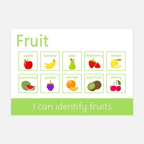 Personalised Fruit Word Mat (Wipe Clean)