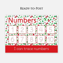 Numbers 1-10 Wipe Clean Learning Mat - Christmas edition by Little Boo Learning | Educational learning resources for pre-school and homeschool