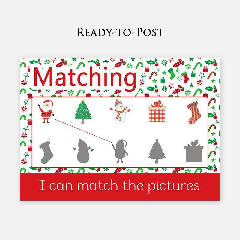Christmas Edition Shadow Matching Learning Mat by Little Boo Learning