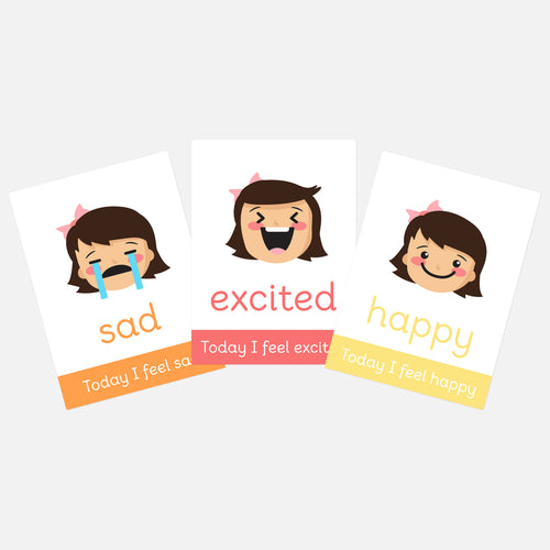 Girls Emotions Flashcards | Understanding Feelings | ELSA resouces | SEN resources