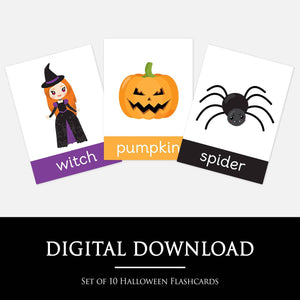 Halloween Flashcards by Little Boo Learning | Activities for toddlers & Pre-school children