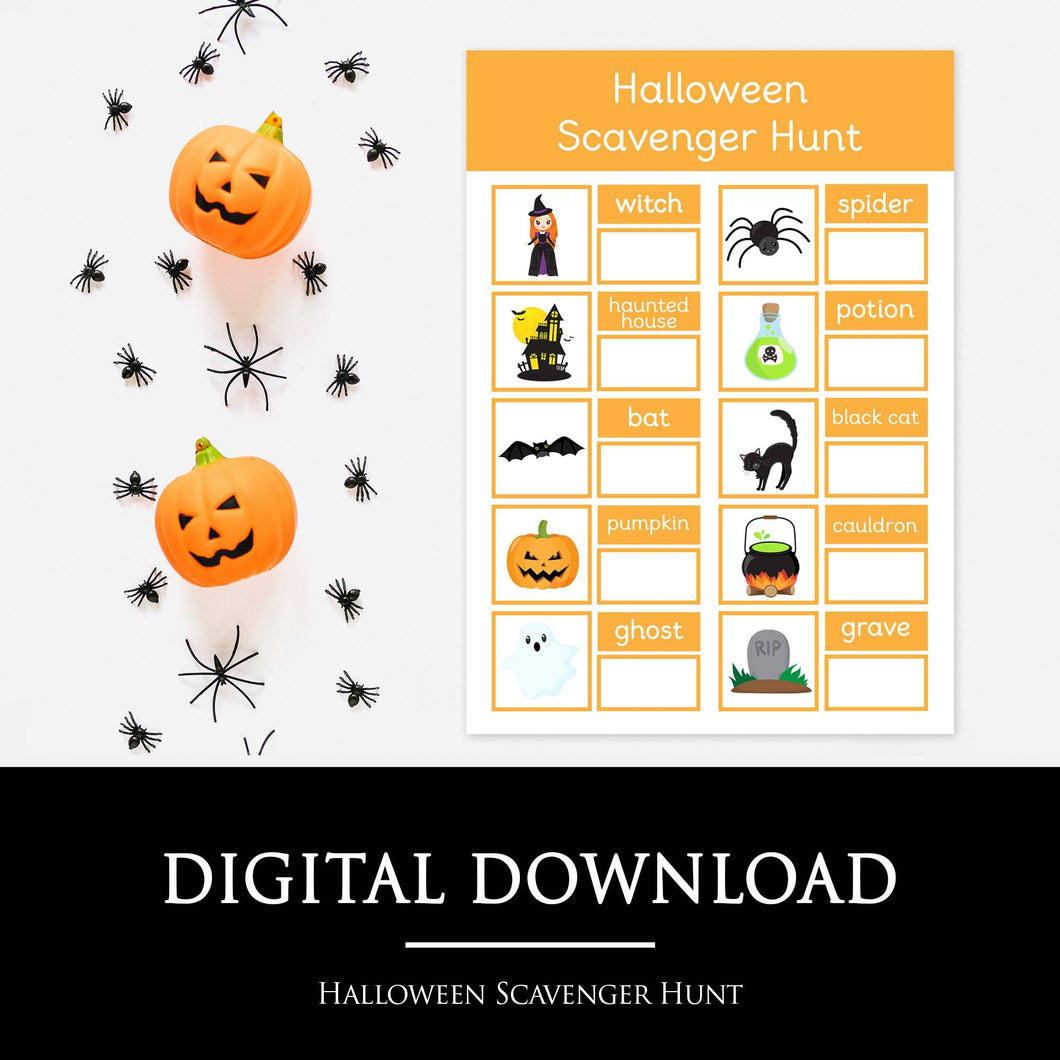 Halloween Scavenger Hunt | Printable Resources by Little Boo Learning