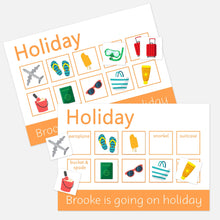 Personalised Holiday Learning Mats (2 Pack) - Learning resources for toddlers and pre-school children