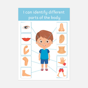 My Body | Educational learning resources for toddlers and pre-schoolers by Little Boo Learning