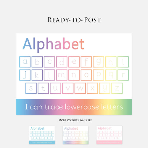 Lowercase Alphabet Handwriting Practise Learning Mat. Wipeable & Reusable Educational Learning Resources by Little Boo Learning