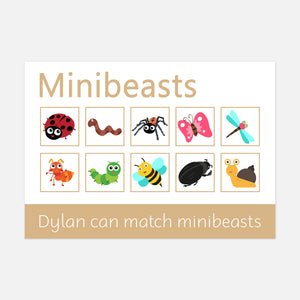 Minibeasts learning mat | EYFS Learning resources for kids and pre-schoolers