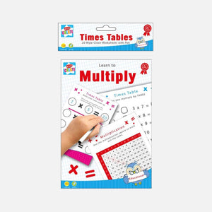 learn to multiply wipe clean workbook
