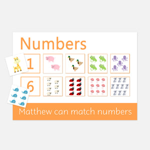 Numbers Learning Mat | Early Years Resources for Toddlers and Pre-Schoolers by Little Boo Learning