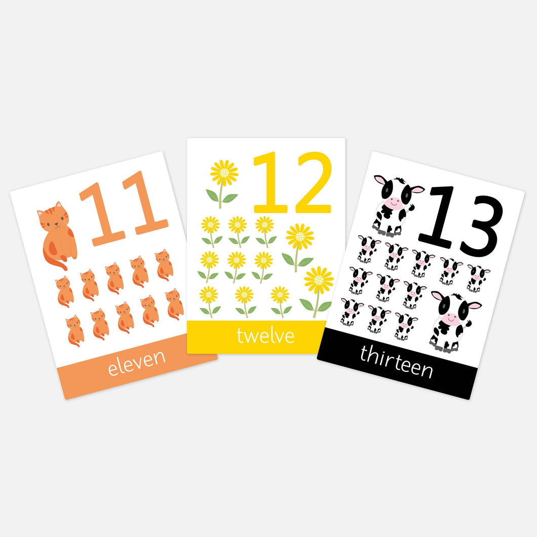 numbers 11-20 flashcards 11,12,13, farm flashcards toddler activities