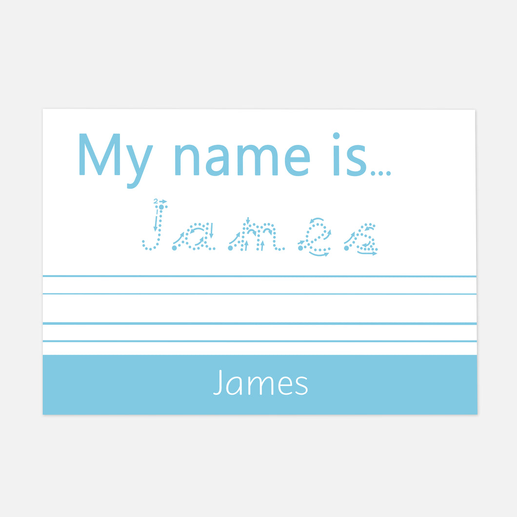 TRACE IT, COPY IT 'My Name is...' Pre-Cursive Font Handwriting Practice Learning Mat by Litle Boo Learning