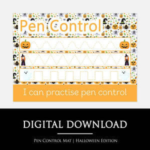 Halloween Pen Control Learning Mat | Digital Download