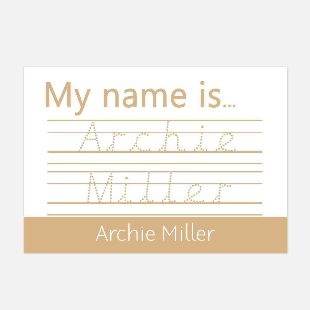 PRE-CURSIVE 'My Name is...' Spelling Mat  by Little Boo Learning