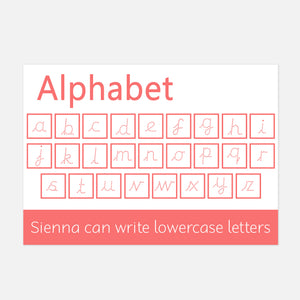 PRE-CURSIVE Lowercase Alphabet Wipe Clean Learning Mat | Little Boo Learning EYFS Resources