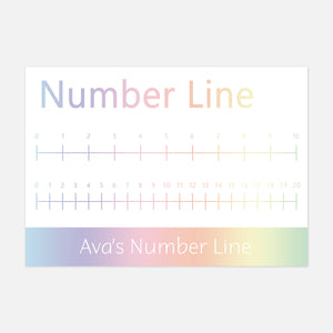Number Line for Visual Learners. Mathematics Learning Resources by Little Boo Learning